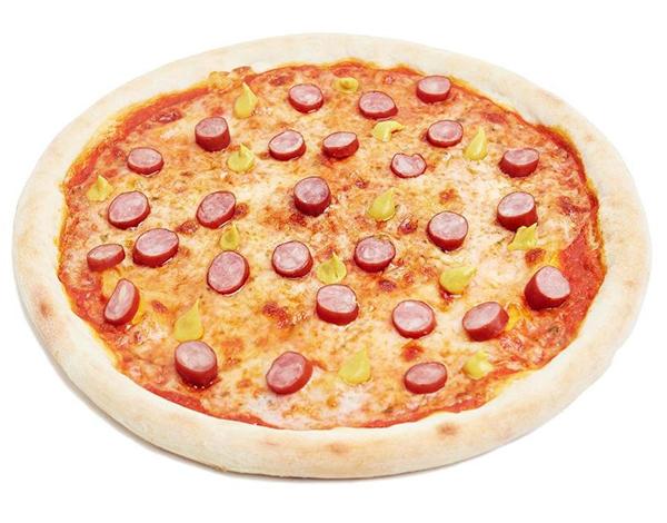 Пицца с охотничьими колбасками