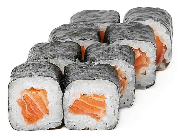 Хосомаки со свежим лососем