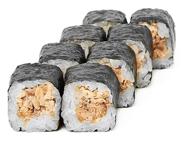Хосомаки с запеченным лососем