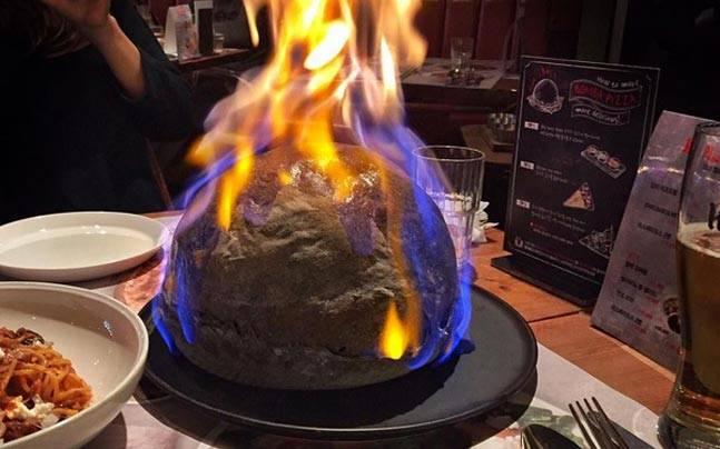 вогняна піца бомба корея