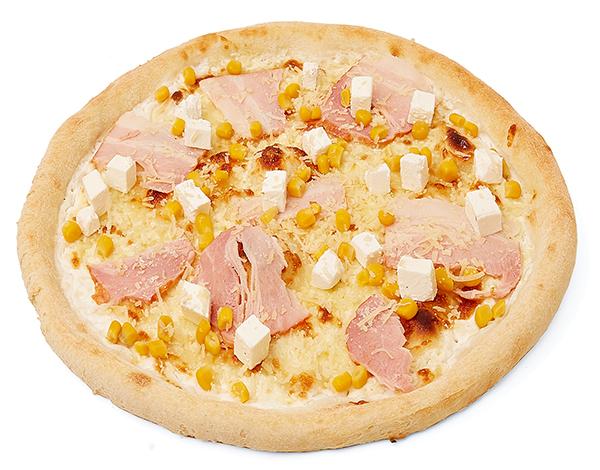 Пицца сырная с беконом